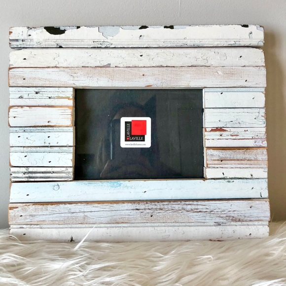 Other - Distressed barnwood handmade frame from Laville